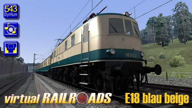 Baureihe 118 / E18 blau-beige