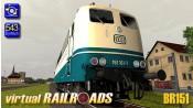 Baureihe 151 DB blau-beige